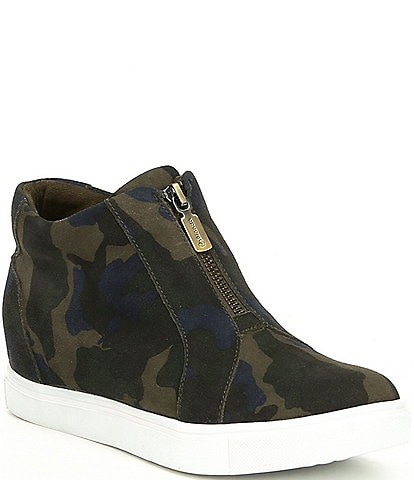 Blondo Glenda Suede Printed Wedge Sneakers