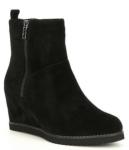 Blondo Rise Waterproof Suede Wedge Booties