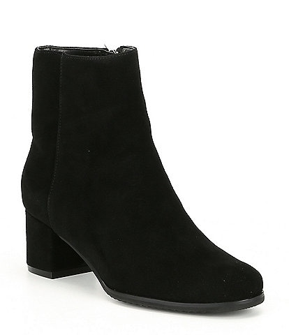Blondo Alida Waterproof Suede Block Heel Booties