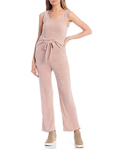 Blu Pepper Coordinating Fuzzy Knit Sleeveless Tank Top