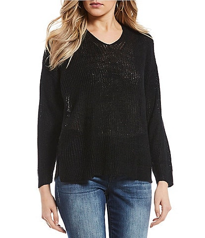 Blu Pepper Lace Up Back Sweater