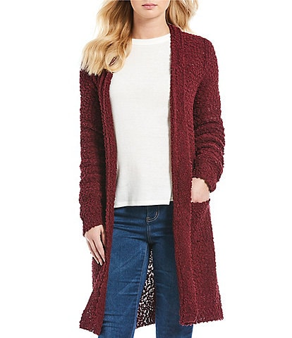 Blu Pepper Cozy Long Sleeve Double Pocket Cardigan