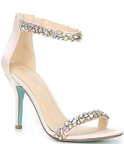 Blue by Betsey Johnson Angie Rhinestone Embellished Dress Sandals