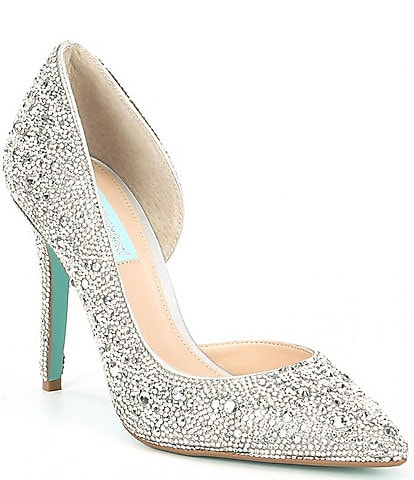 9e025fc10d Blue by Betsey Johnson Hazil Jeweled Pumps