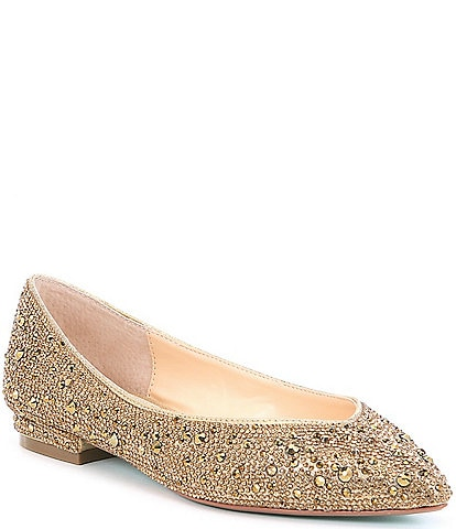 Blue by Betsey Johnson Jude Rhinestone Jeweled Dress Flats