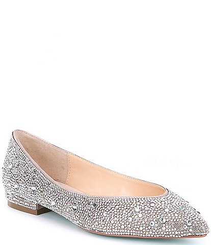 Betsey Johnson Jude Rhinestone Jeweled Dress Flats
