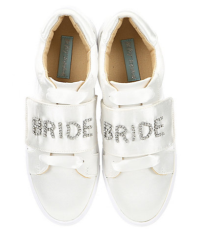 Blue by Betsey Johnson Liana Satin Jeweled Bride Sneakers