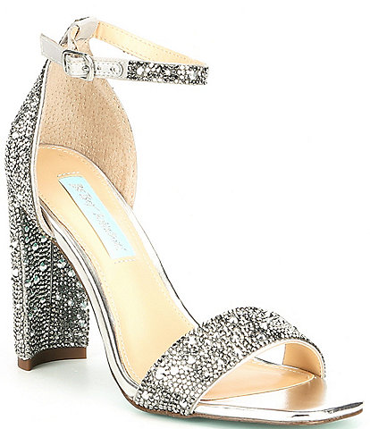 Blue by Betsey Johnson Rina Rhinestone Embellished Dress Sandals