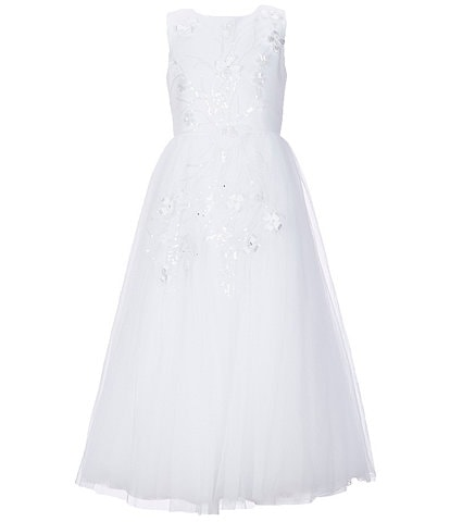 Blush by Us Angels Big Girls 7-14 Flower-Appliqued Ball Gown