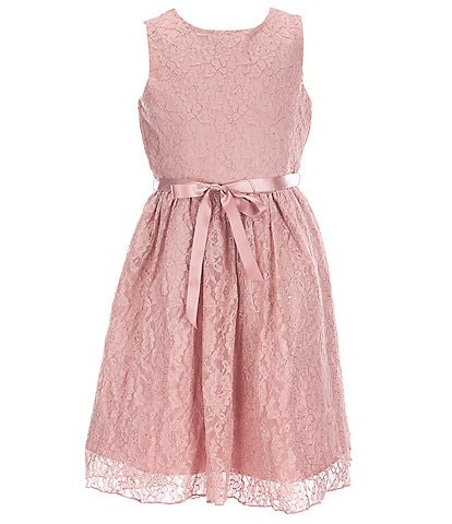 Blush by Us Angels Big Girls 7-16 Foiled Corded Lace Hi-Low Dress