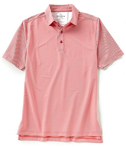 c53e3ee2 Bobby Jones Short-Sleeve Jacquard Performance Polo