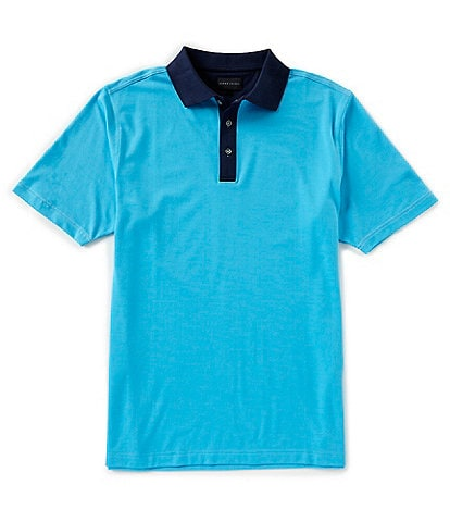 Bobby Jones Short-Sleeve Oxford-Pique Orbiter Polo