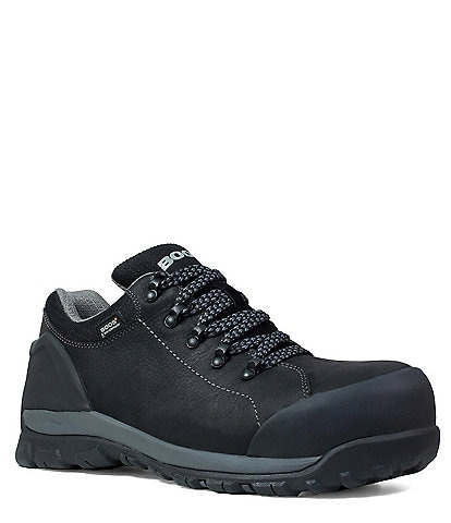 BOGS Men's Foundation Low Waterproof Composite Toe Leather Work Boot