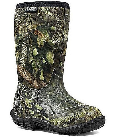 BOGS Boy's Classic Mossy Oak Waterproof Boot