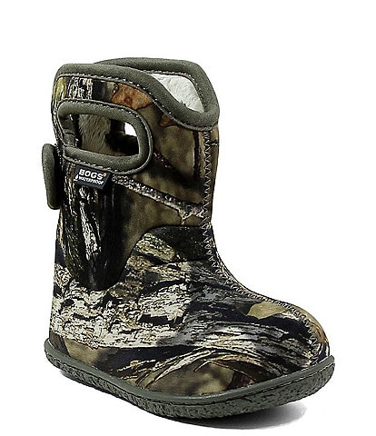 BOGS Boy's Baby Bogs Mossy Oak Waterproof Boot with Handles