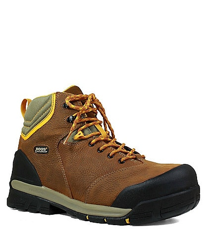BOGS Men's Bedrock 6#double; Composite Toe Leather Waterproof Work Boot