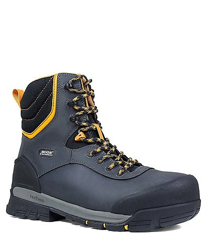BOGS Men's Bedrock 8#double; Composite Toe Insulated Waterproof Leather Work Boot