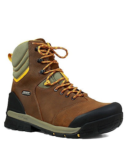 BOGS Men's Bedrock 8#double; Soft Toe Waterproof Leather Lace Up Work Boot