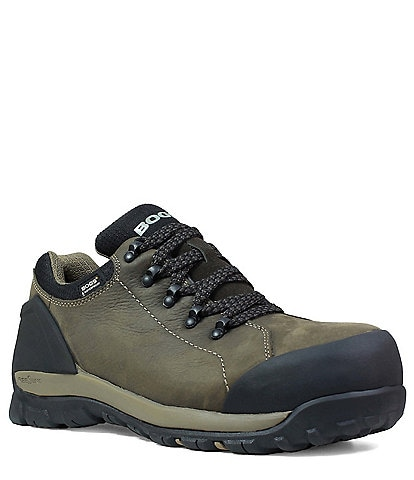 BOGS Men's Foundation Low Leather Waterproof Work Boot