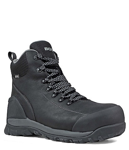 BOGS Men's Foundation Leather Waterproof Composite Toe Work Boot