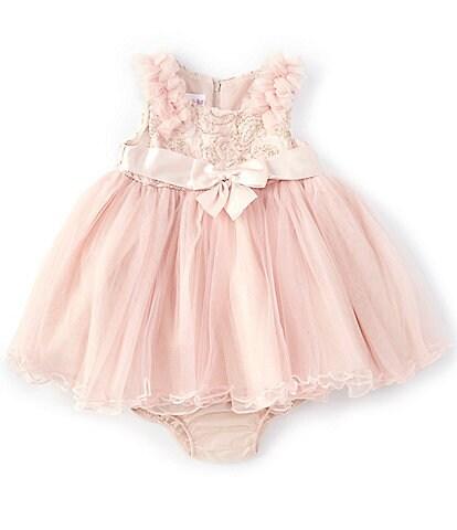 Bonnie Jean Baby Girls Newborn-24 Months Embroidered/Mesh Ballerina Dress