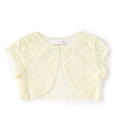 Bonnie Jean Big Girls 7-16 Cap-Sleeve Lace Cardigan