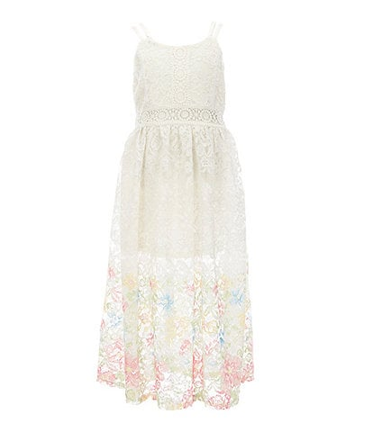 Bonnie Jean Big Girls 7-16 Lace Floral-Hem Maxi Dress