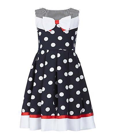 0bd66071959 Bonnie Jean Big Girls 7-16 Mixed-Media Nautical Fit-And-Flare