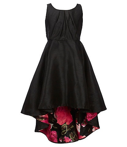 Bonnie Jean Big Girls 7-16 Shantung Floral Lined Hi-Low Dress