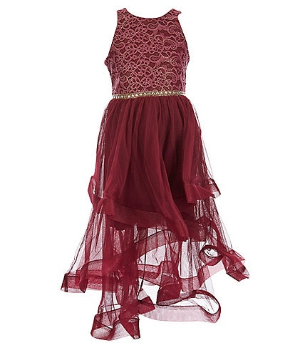 Bonnie Jean Big Girls 7-16 Sleeveless Foiled Lace Ball Gown