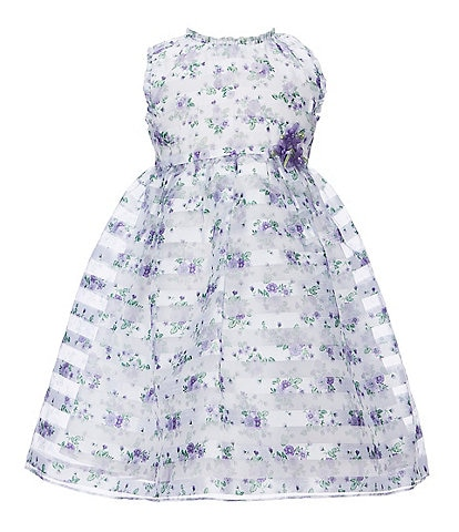 Bonnie Jean Little Girls 2T-4T Printed-Shadow-Stripe Fit-And-Flare Dress