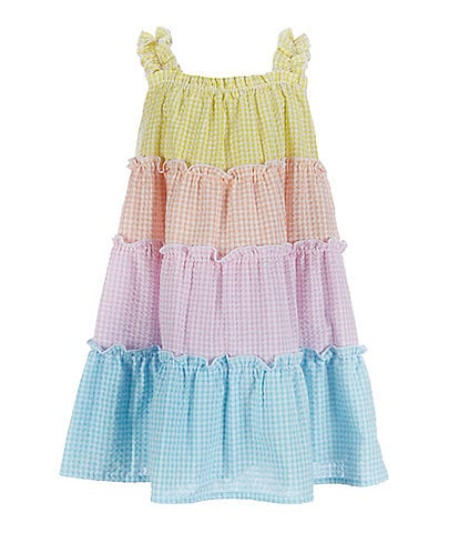 Bonnie Jean Little Girls 2T-6X Tiered Seersucker A-Line Dress