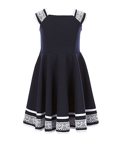 Bonnie Jean Little Girls 4-6X Lace-Trimmed Fit-And-Flare Dress