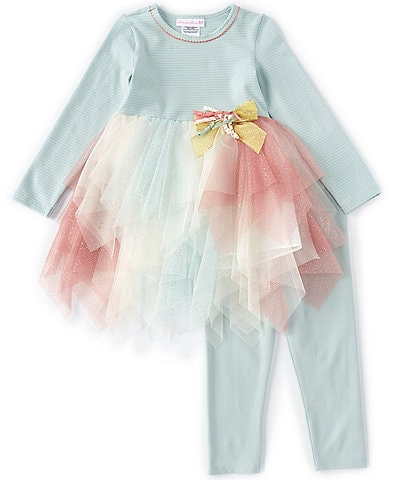 Bonnie Jean Toddler Girls 2T-4T Handkerchief Tutu Dress & Leggings Set