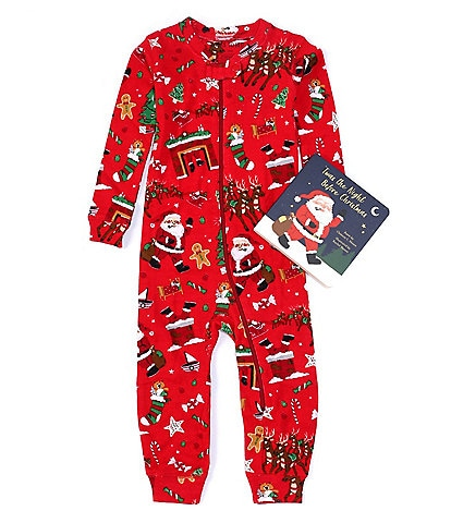 Books To Bed Baby 6-24 Months Long Sleeve 'Twas the Night Before Christmas Coverall & Book Set