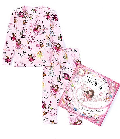 Books To Bed Baby Girls 12-24 Months Long Sleeve Twinkle Two-Piece Pajamas & Book Set