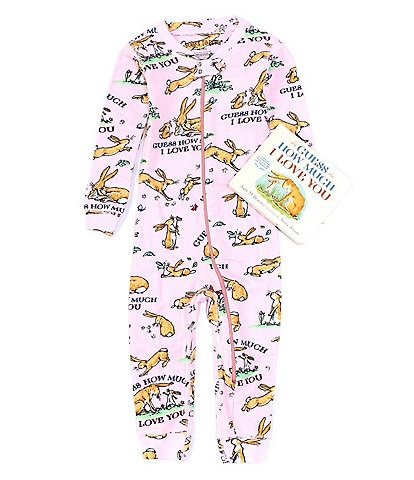 Books To Bed Baby Girls 6-24 Months Long Sleeve Guess How Much I Love You Coverall & Book Set