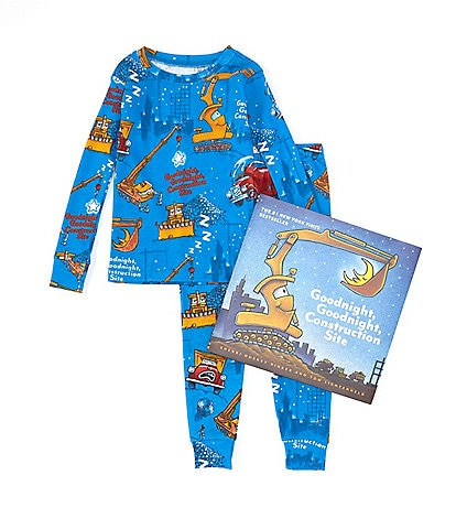 Books To Bed Little Boys 2-6 Goodnight Goodnight Construction Site Pajamas & Book Set