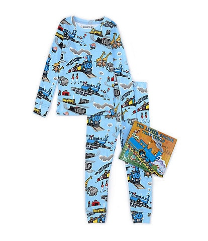 Books To Bed Little Boys 2-7 The Little Engine That Could Two-Piece Pajamas & Book Set