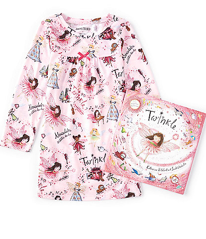 Books To Bed Little Girls 2-8 Twinkle Gown & Book Set