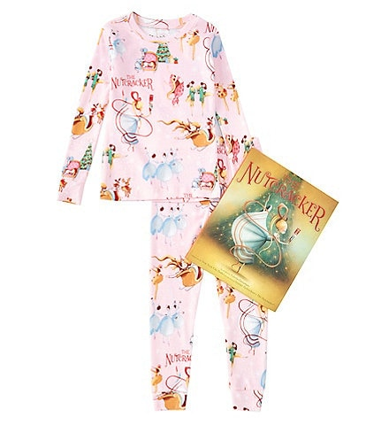 Books To Bed Little/Big Girls 2-10 Christmas Nutcracker Pajamas & Book Set