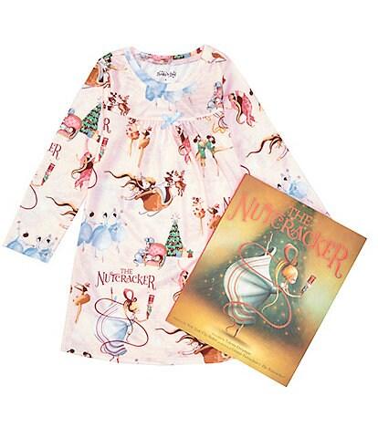 Books To Bed Little/Big Girls 2-10 Nutcracker Nightgown & Book Set