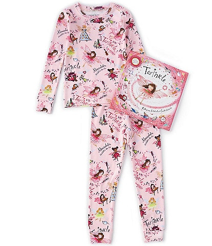 Books To Bed Little/Big Girls 2-10 Twinkle Two-Piece Pajamas & Book Set