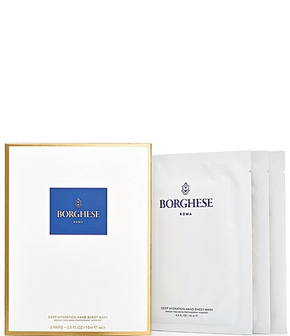 Borghese Deep Hydration Hand Sheet Masks - 3 Pairs