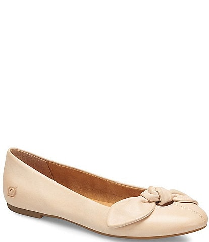 Born Anah Leather Bow Detail Flats