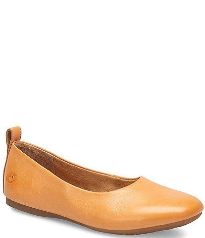 Born Beca Leather Slip-On Flats