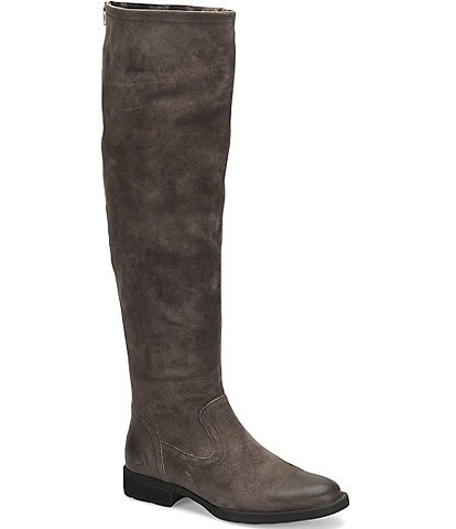 Born Borman Distressed Suede Tall Block Heel Boots
