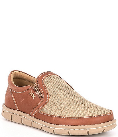 Born Boys' Han Sawyer Leather and Canvas Slip Ons (Toddler)