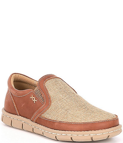 Born Boys' Han Sawyer Leather and Canvas Slip Ons (Youth)