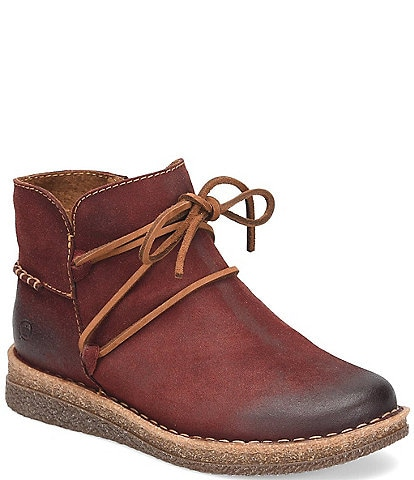 Born Calyn Distressed Leather Ankle Tie Booties